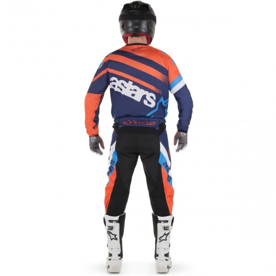 Hose ALPINESTARS Racer 2018 Supermatic Dark Blue / Orange Fluo / Aqua