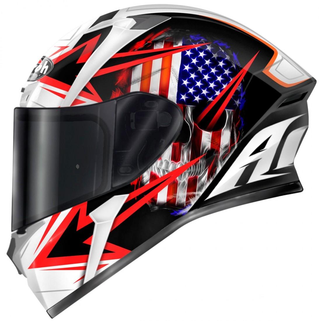 Airoh Valor Sam Black Gloss Helmet Motocard