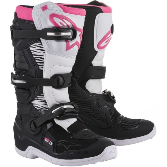 Botas ALPINESTARS Stella Tech 3 Lady Black / White / Pink