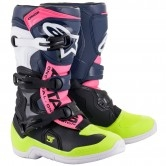 Tech 3S Junior Black / Dark Blue / Pink / Fluo