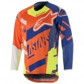 ALPINESTARS Techstar 2018 Screamer Orange Fluo / Blue / White / Yellow Fluo