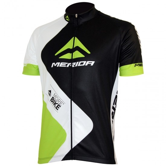 Maillot MERIDA Nizza SS Coolmax Fire 2017 Black / Green / White