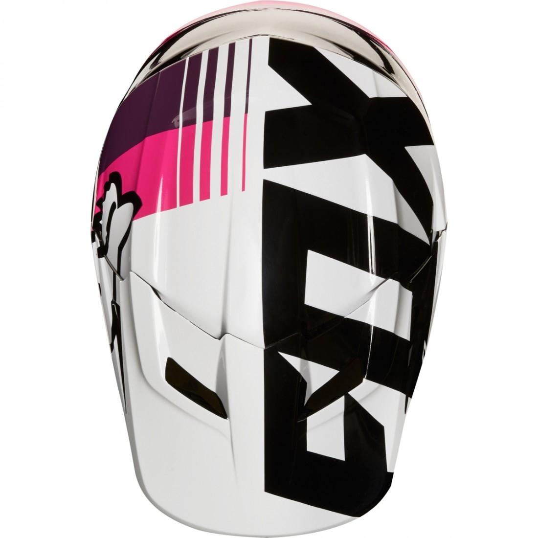 casco fox v1 halyn 2018 black pink motocard. Black Bedroom Furniture Sets. Home Design Ideas