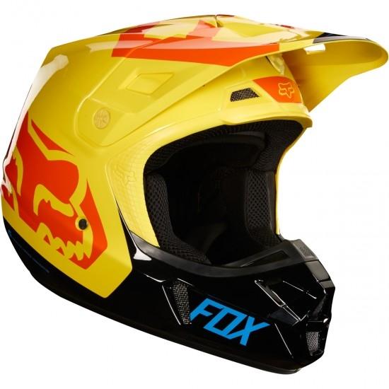 Casco FOX V2 Preme 2018 Black / Yellow