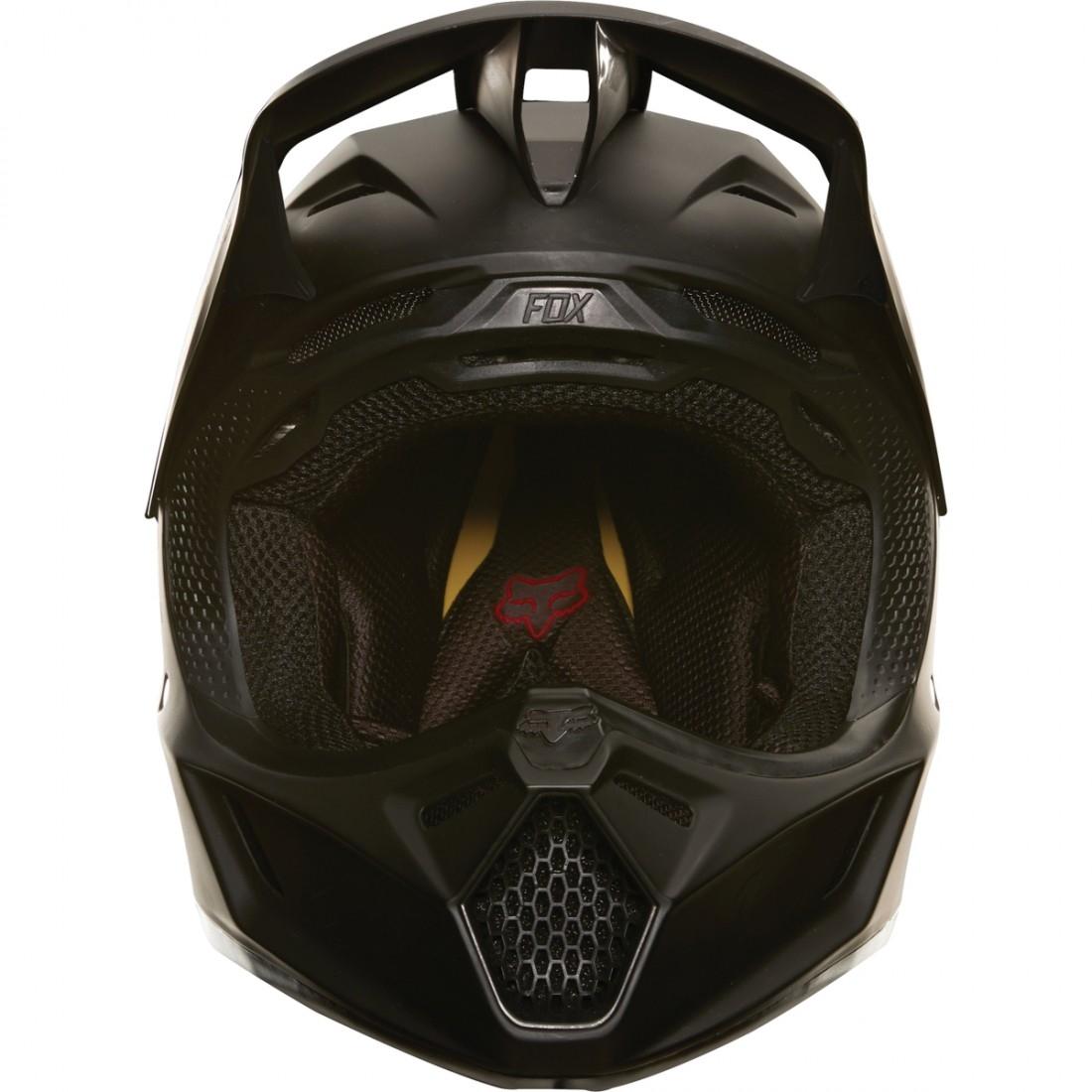casque fox v3 matte carbon matte black motocard. Black Bedroom Furniture Sets. Home Design Ideas