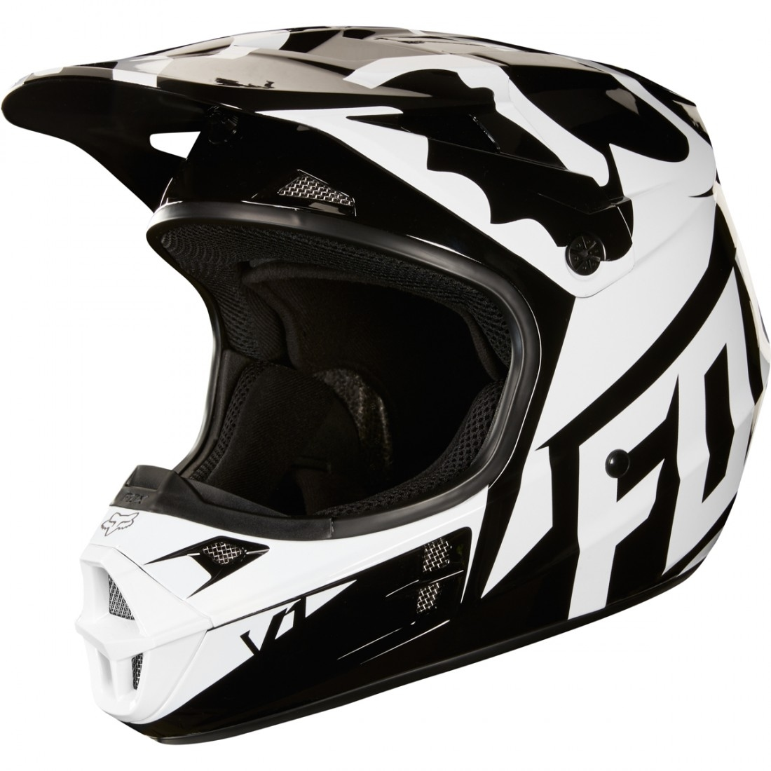 Casco Fox V1 Race 2018 Black 183 Motocard