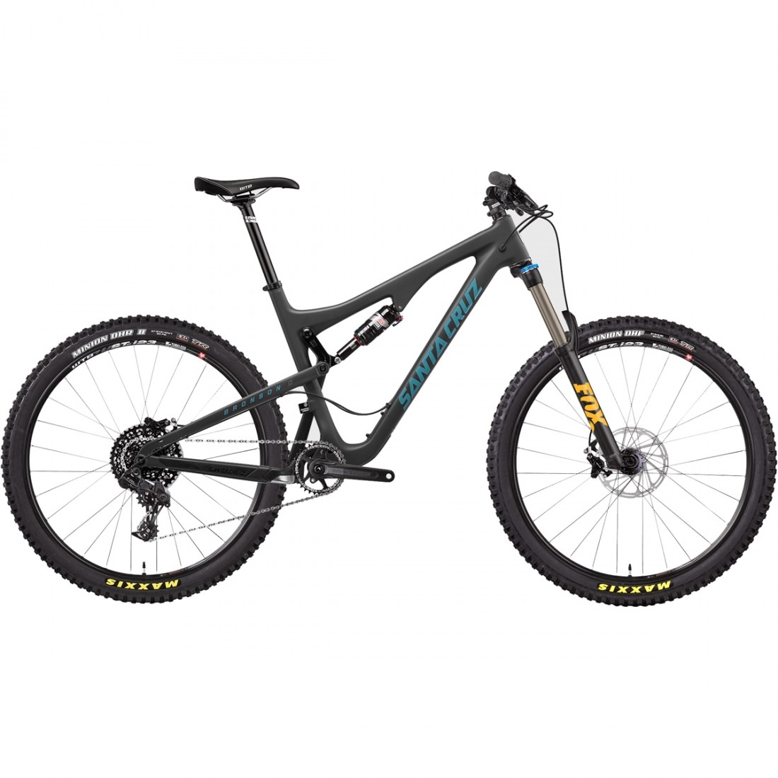 Bicicleta de montaña SANTA CRUZ Bronson C Kit R1x Matte Black / Blue ...