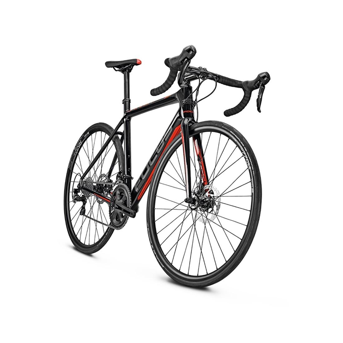 34d13c888b4 FOCUS Cayo Disc 2017 Carbon / Red / Grey Road bike · Motocard