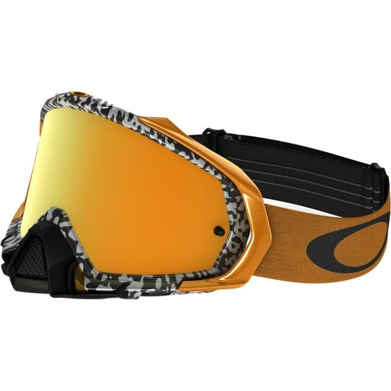 Maske / Brillen OAKLEY Mayhem Pro MX Viper Room White / Gold 24K Iridium