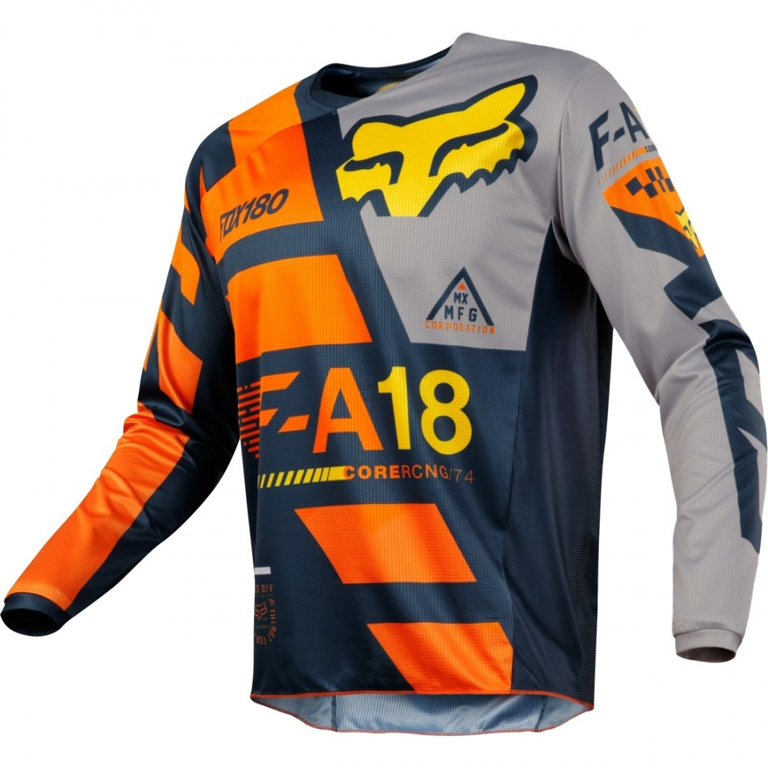 Camiseta FOX 180 2018 Junior Sayak Orange · Motocard 600e1d65f908e