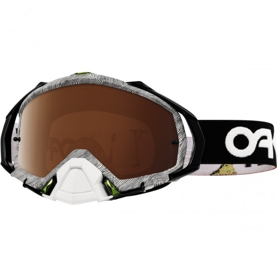 Máscara / Óculos OAKLEY Mayhem Pro MX Factory Pilot Thumbprint Black / White / Black Iridium