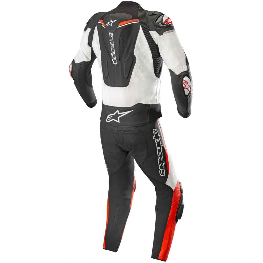 Alpinestars Jacket Leather >> ALPINESTARS Atem V3 Black / White / Red Fluo Suit · Motocard