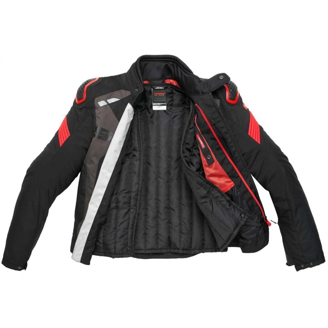 f5996880bcf2 SPIDI Warrior H2Out Black / Red Jacket · Motocard