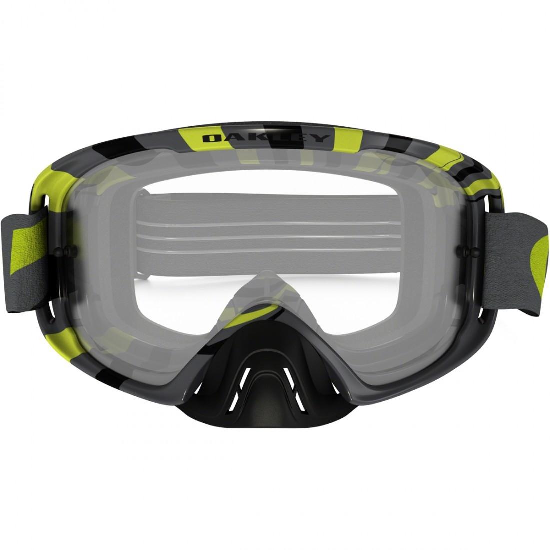 6d1e090d6a OAKLEY O2 MX RPM Gunmetal   Green Clear Goggles · Motocard