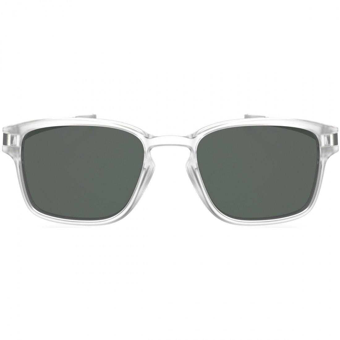 223f3472f4 Óculos de sol OAKLEY Latch Square Matte Clear / Dark Grey · Motocard