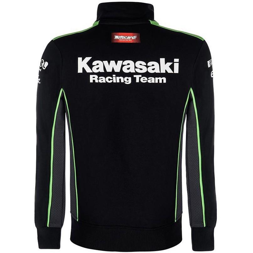 0f77a99b821 KAWASAKI Replica KRT SBK Black   Green Sweatshirt · Motocard