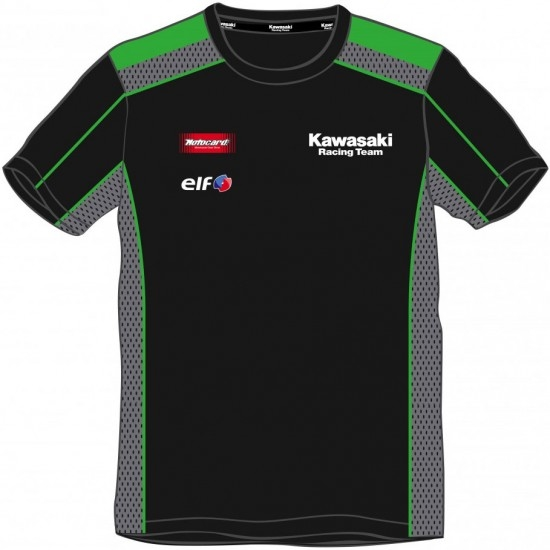 Camiseta KAWASAKI Replica KRT SBK Junior 2018 Black / Green