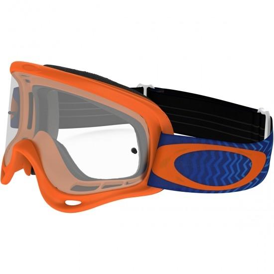 OAKLEY MX XS O-Frame Shockwave Blue / Orange Clear Mask / Goggle