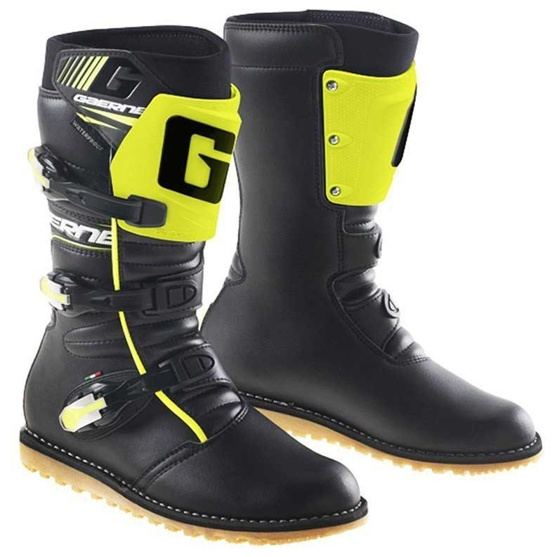 d4af1ff06eca1 Bottes GAERNE Balance Classic Black   Yellow Fluo · Motocard