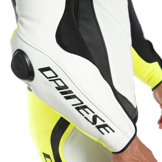 Anzug / Kombi DAINESE Laguna Seca 4 Professional Estiva White / Black / Fluo-Yellow