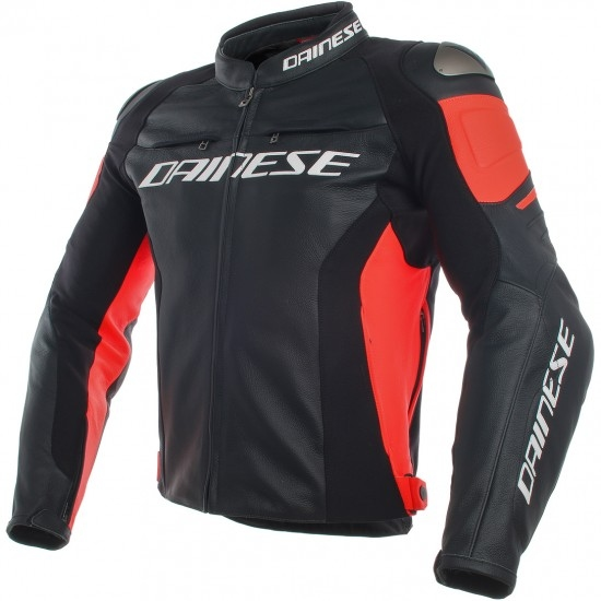 DAINESE Racing 3 Black / Fluo-Red Jacket