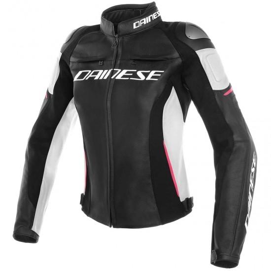 Chaqueta DAINESE Racing 3 Lady Black /White / Fuchsia