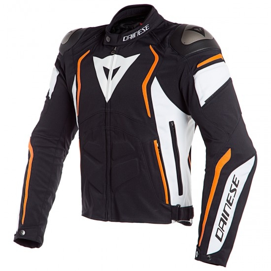Chaqueta DAINESE Dyno Tex Black / White / Fluo-Orange