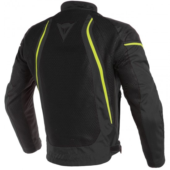 DAINESE Air Crono 2 Tex Black / Fluo-Yellow Jacket