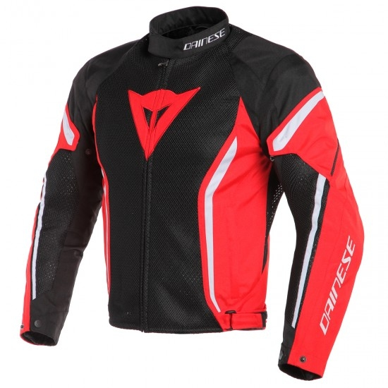 Chaqueta DAINESE Air Crono 2 Tex Black / Red / White