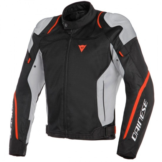 Chaqueta DAINESE Air Master Tex Black / Glacier-Gray / Fluo-Red
