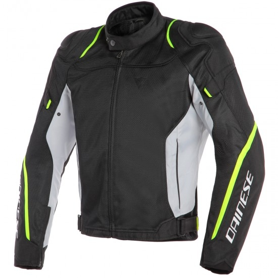 Chaqueta DAINESE Air Master Tex Black / Glacier-Gray / Fluo-Yellow