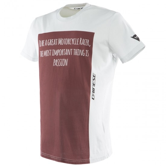Camiseta DAINESE Racer-Passion Grey / Burgundy