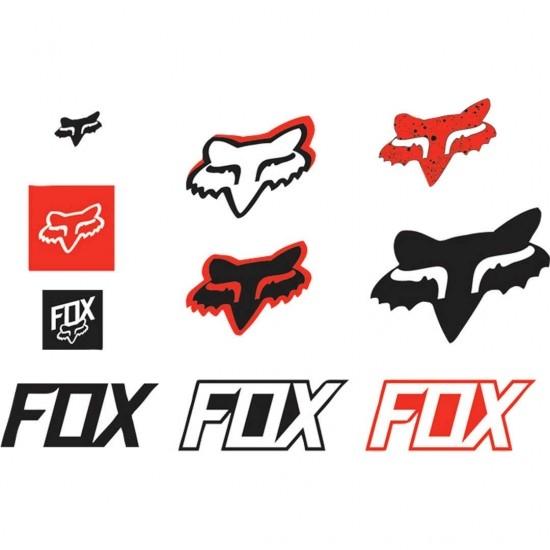 Aufkleber FOX Track Pack Red