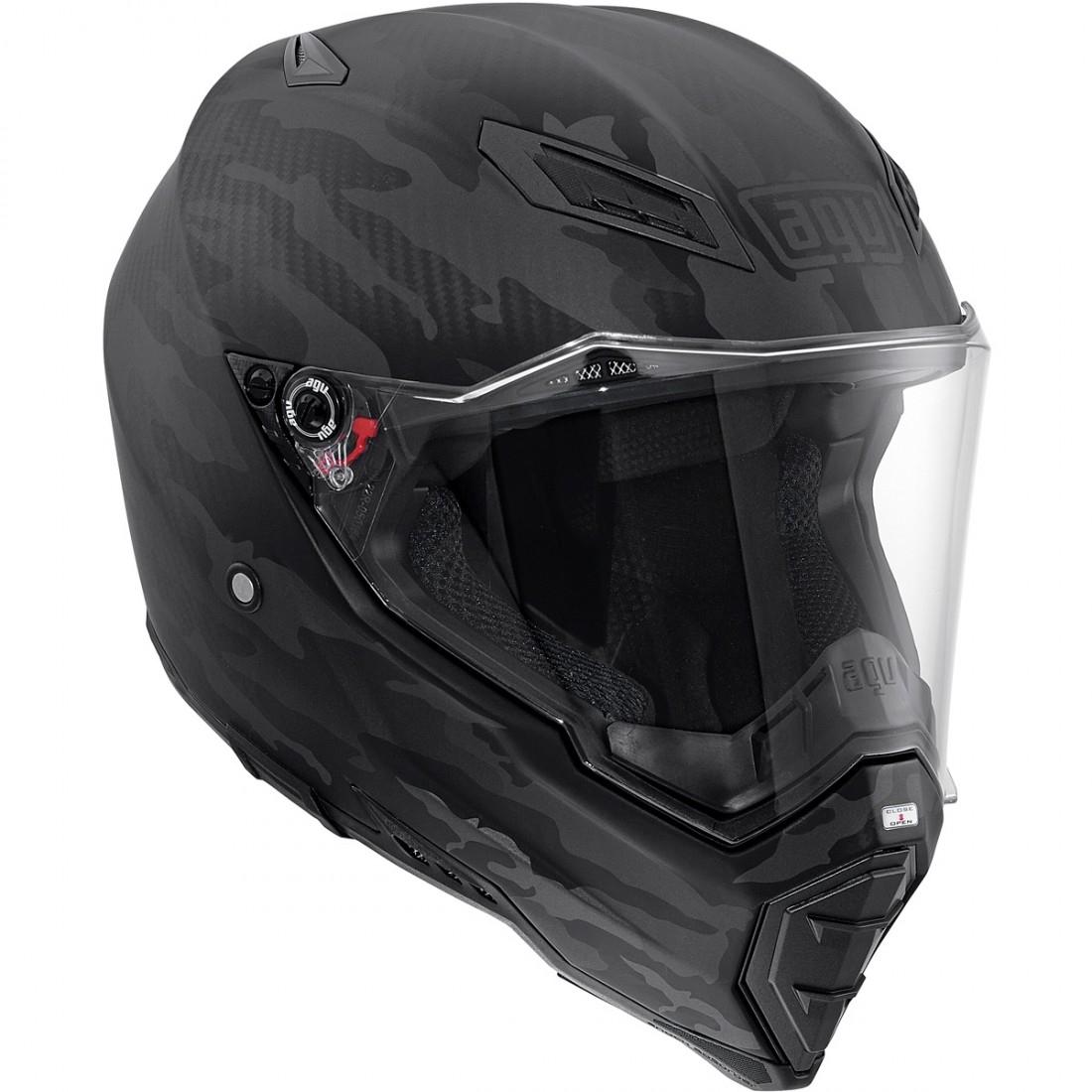 AGV AX-8 Naked Carbon Fury Carbon Black Helmet