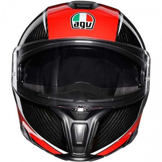 Casco AGV Sportmodular Aero Carbon-Red