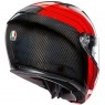 Casco AGV Sportmodular Stripes Carbon / Red