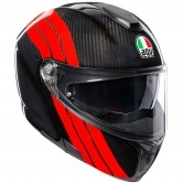 AGV Sportmodular Stripes Carbon / Red