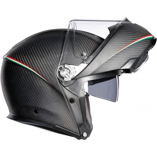 Casco AGV Sportmodular Tricolore Matt Carbon / Italy