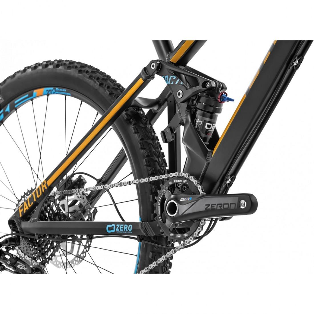 "02c51c8587b MONDRAKER Factor 27.5"" 2018 Black / Orange / Blue Sky Mountainbike ..."