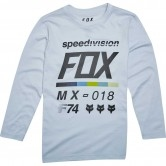 FOX Draft Junior Light Heather Grey