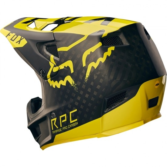 Casque FOX Rampage Pro Carbon 2018 Moth Black / Yellow