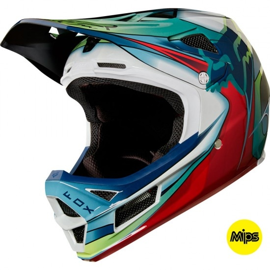 Casco FOX Rampage Pro Carbon 2018 Kustom White / Red / Black
