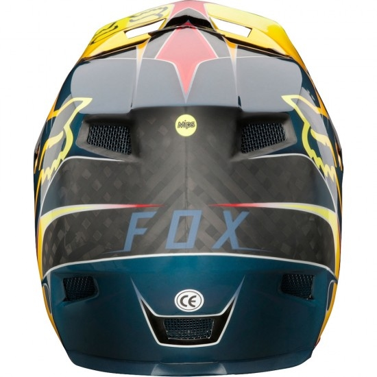Casco FOX Rampage Pro Carbon 2018 Kustom Red / Yellow