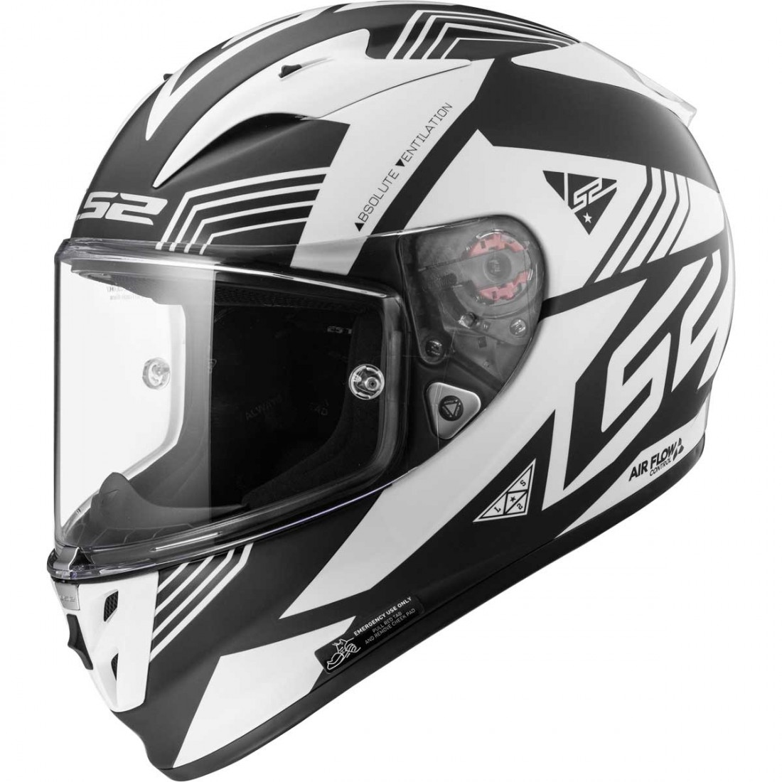 Casco LS2 FF323 Arrow R Evo Neon Matt Black   White · Motocard b34df53cda1