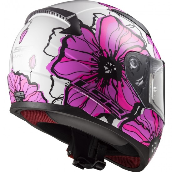 Casco LS2 FF353 Rapid Poppies Pink
