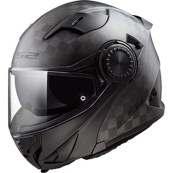 6158f386eda LS2 FF313 Vortex Solid Matt Carbon Helmet · Motocard
