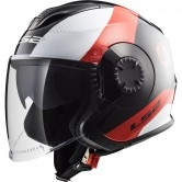 LS2 OF570 Verso Technik Black / White / Red