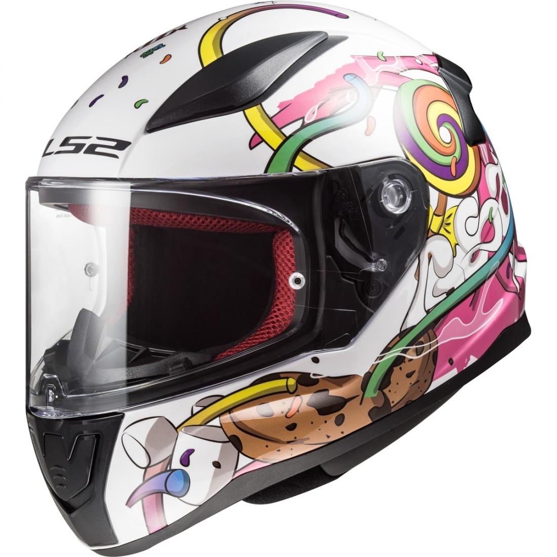 Ls2 Ff353j Rapid Mini Crazy Pop White Pink Helmet