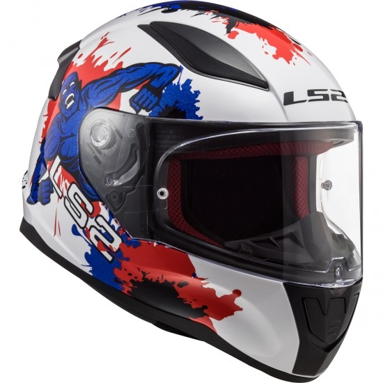 Helm LS2 FF353J Rapid Mini Monster White / Blue