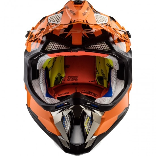 Casque LS2 MX470 Subverter Emperor Black / Orange